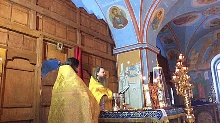 Пронский монастырь. Божественная литургия. Память святителя Спиридона Тримифунтского