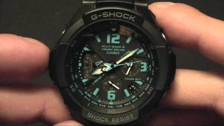 G-shock gravitymaster solar gw-a полная настройка часов.
