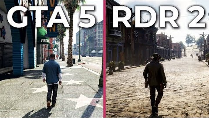 Red Dead Redemption 2 (Xbox One X) vs. GTA 5 (PC 4K Ultra) Graphics Comparison
