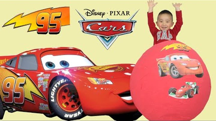120+ Disney Pixar Cars Toys Giant Egg Surprise Opening Lightning McQueen CKN Toys