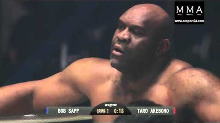 Bob Sapp MMA vs Taro Akebono SUMO Fighting 31 12 2015 Боб Сапп ММА vs Таро Акебоно Сумо Бой 2015