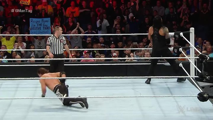 Roman Reigns & The Usos vs. AJ Styles, Luke Gallows & Karl Anderson- Raw, May 2, 2016