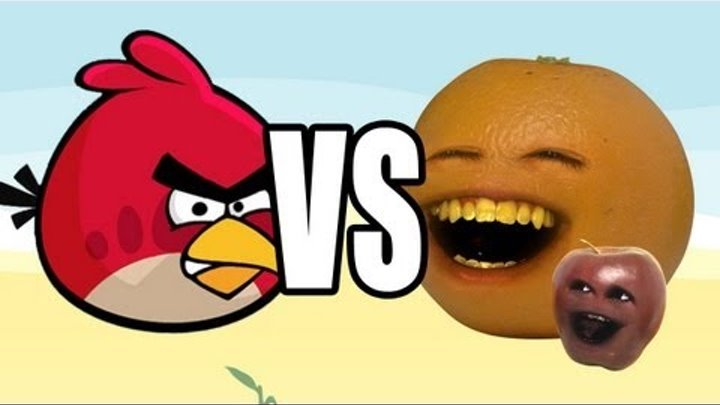 Annoying Orange vs Angry Birds: MIDGET APPLE
