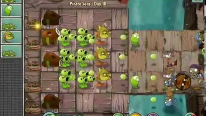 Plants vs Zombies 2 It's About Time Pirate Seas Day 10 Treasure Yeti Easy Level ios iphone gameplay