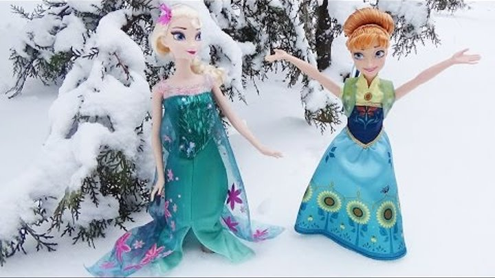 Мультик с куклами Анна и Эльза. Холодное торжество Anna Elsa Cold celebration Doll Frozen