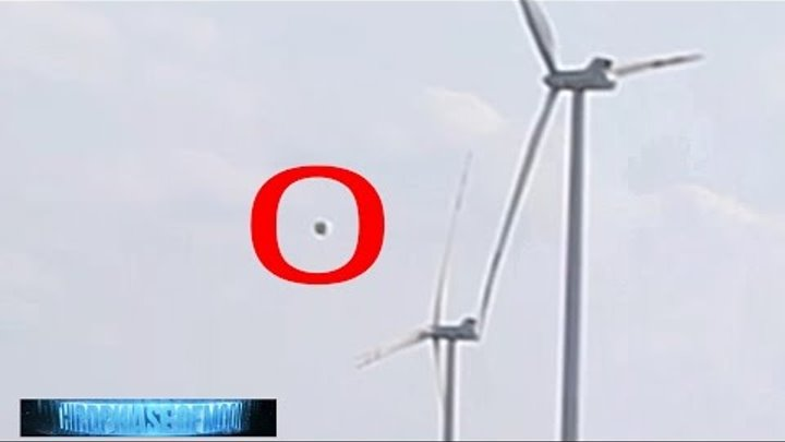 OMG NEAR COLLISION UFO STOPS TURBINE WINDMILLS THEN PASSES THREW! CRAZY FOOTAGE 2016