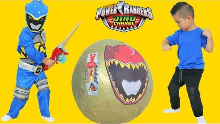 Power Rangers Dino Charge Super Giant Toys Surprise Egg Opening Ckn Toys