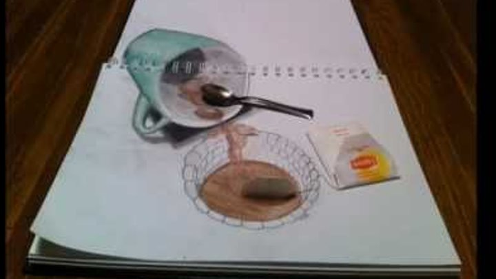 3d anamorphic drawing 2
