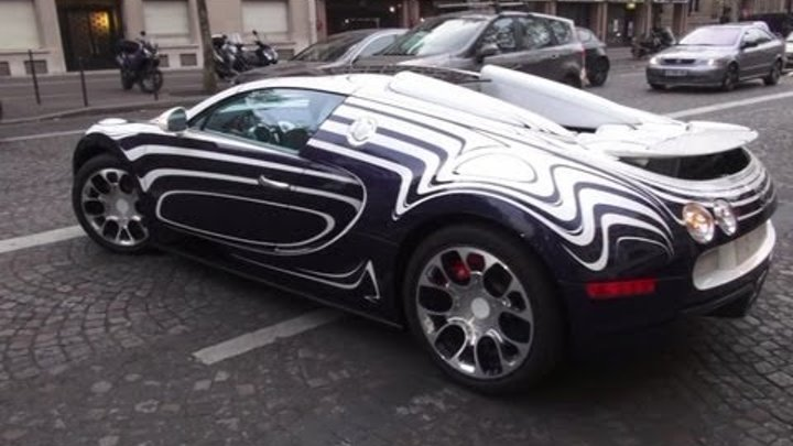Bugatti Veyron OR BLANC on the road !!