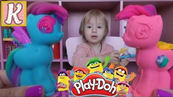 Май Литл Пони набор пластилина Плей До, лепим Пинки Пай и Рейнбоу Дэш. Play-Doh My Little Pony.