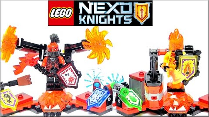 LEGO Nexo Knights Ultimate 70338 Генерал Магмар, 70339 Флама Абсолютная сила Обзор. Лего Нексо Найтс
