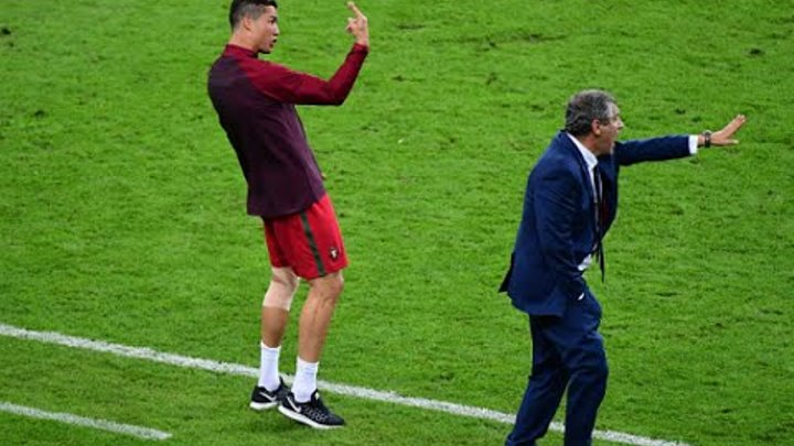 Cristiano Ronaldo Coaching Euro 2016 Final - Funny Moments