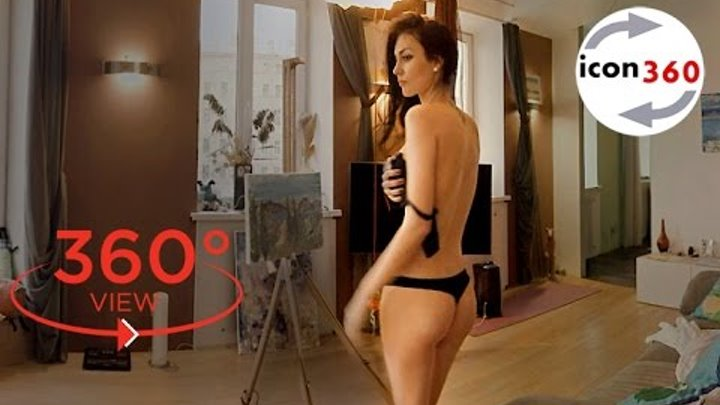 360 VR video – undressed girl Margarita (virtual reality 360 degree video with naked woman)