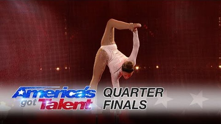 Sofie Dossi: Teen Contortionist Shoots Flaming Bow and Arrow Perfectly - America's Got Talent 2016