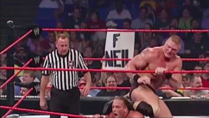 Brock Lesnar vs Rob Van Dam Intercontinental Championship - WWE Raw 6/24/2002 (HD)