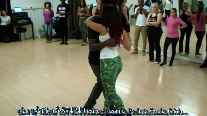 Paris Studio Bleu 06. 09. 15 Curtis & Macarena Kizomba Beginner Class