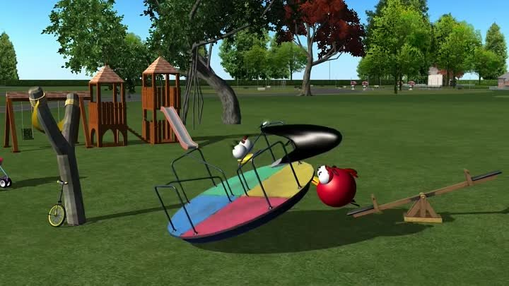 BABY CHICK JUNIOR with the Angry Birds☺ 3D animated gamespoof FunVideoTV - Style ;-))