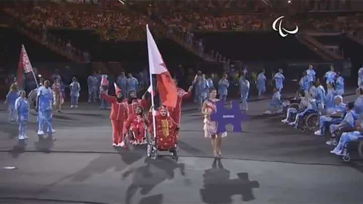 Belarus has carried the Russian flag at the Rio 2016 Paralympics