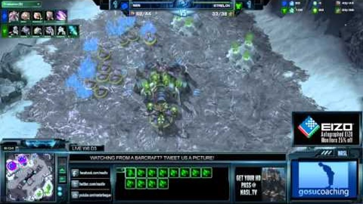 SC2 Sen vs Strelok Game 3 NASL Season 3 Starcraft 2 gameplay