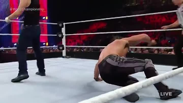 """MONDAY NIGHT RAW 18.07.2016""WWE Championship match (c)Dean Ambrose vs Seth Rollins"