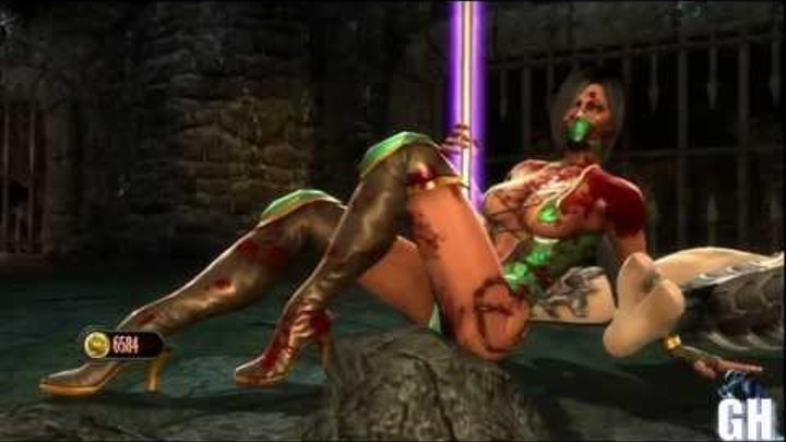 "Mortal Kombat 9 Jade Hot Victory Pose ""Pole Dance"""