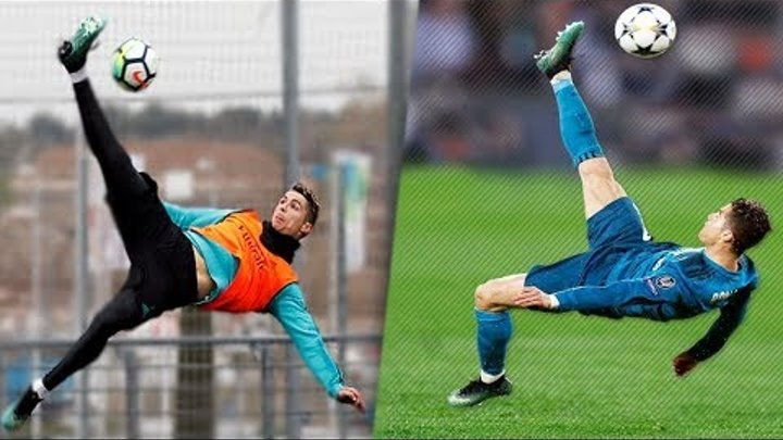7 Times C.RONALDO Recreated Training Goals In Matches
