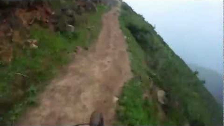 Extreme downhill on a bicycle