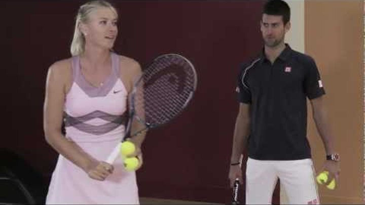 Djokovic vs. Sharapova: Speed Bowling