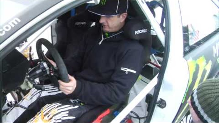 Ken Block's WRC Mexico Test in the Monster World Rally Team Ford Focus RS