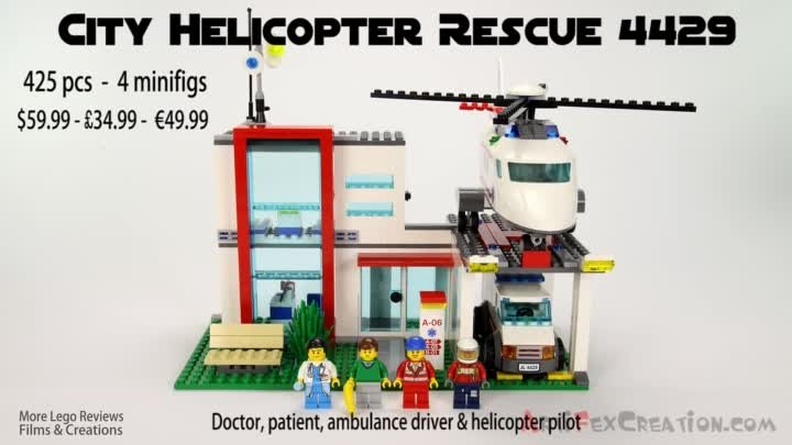 Lego City HOSPITAL Helicopter Rescue 4429 Stop Motion Build Review
