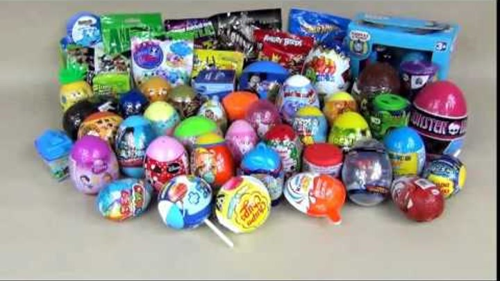 61 Kinder Surprise Eggs for KIDS! Barbie, little Pony, Educational Toys and more