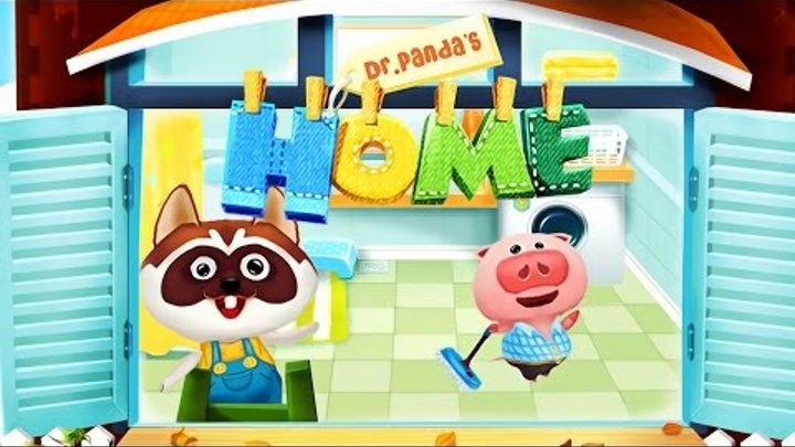Cartoon Handyman Panda - Dr. Panda's Home : Learning Videos : Game for Children