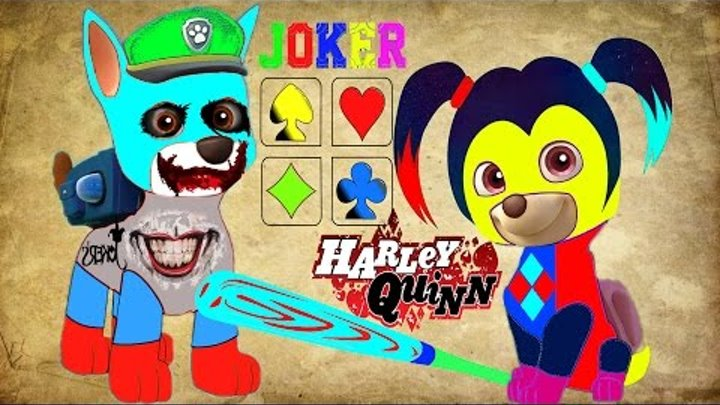 Paw Patrol Щенячий патруль Joker Harley Quinn Coloring Book for Kids Cartoon Мультфильмы для детей