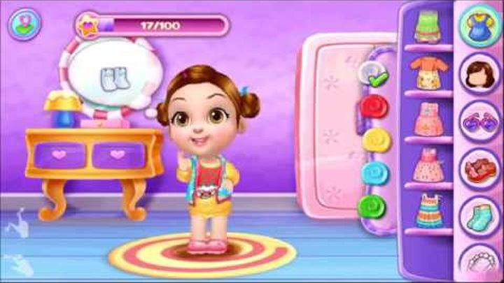 Baby Kim Care & Dress , Tabtale Play & Care Cute Baby Game for Kids Android iOS Gameplay Video