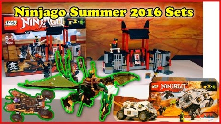 Lego Ninjago Summer 2016 Sets Pictures From The Nuremberg Toy Fair. Review.Лего Ниндзяго