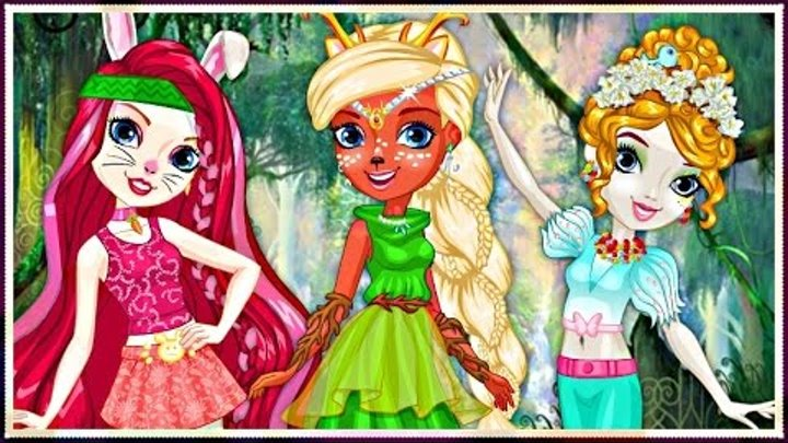 Forest Pixies Hair Salon - Harlow, Deerla and Featherly - Ever After High - Hairstyle Game For Kids