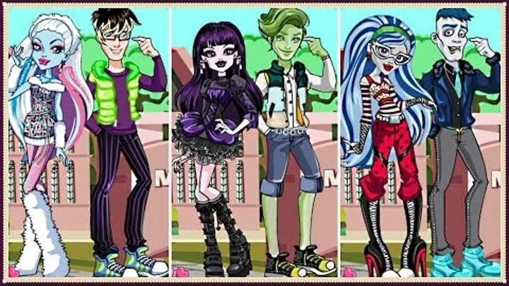 Will You Be My Monstertine? - Monster High Dress Up and Answer a Few Questions - Kids Game