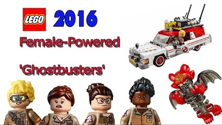 LEGO Ghostbusters 2016 ECTO-1 set and the Ecto-2 bike 75828 Лего Охотники за приведениями