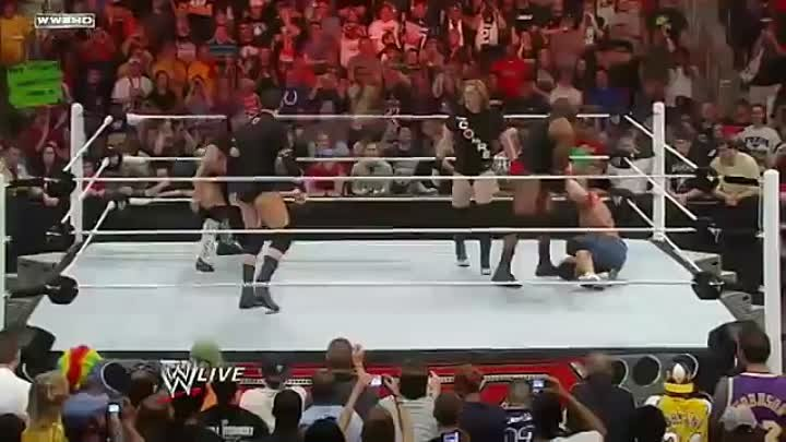 WWE RAW 4/4/2011 John Cena calls out The Rock and issues about WrestleMania28 match
