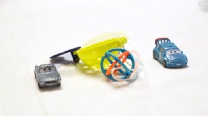 Kinder Joy Surprise Eggs Cars 2 and other toys