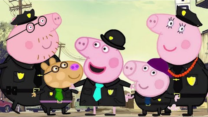 Finger Family Peppa Pig Police Nursery Rhymes Song With Lyrics And More Episodes