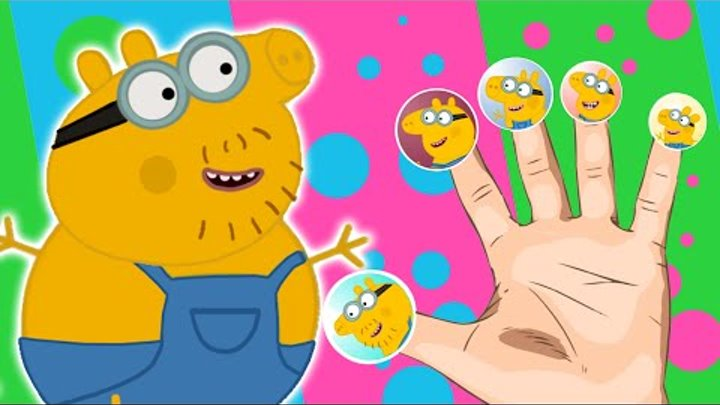 Peppa Pig Minions Finger Family Nursery Rhymes Lyrics And More