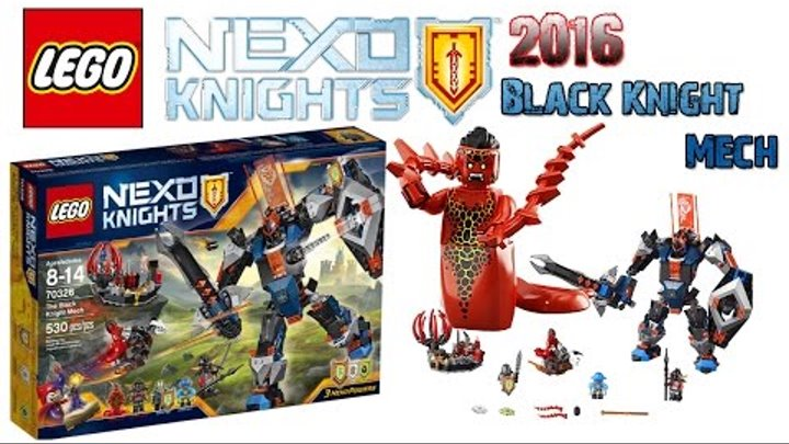 Lego Nexo Knights Season 2 70326 The Black Knight Mech/ lego Whiparella minifigure/ exclusive set