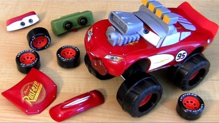 Monster Truck Gear Up n Go Lightning McQueen CARS 2 Buildable Toy From Disney Pixar Toys