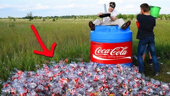 1000 ЛИТРОВ КОКА-КОЛА + МЕНТОС / 1000 liters of Coca-Cola + Mentos