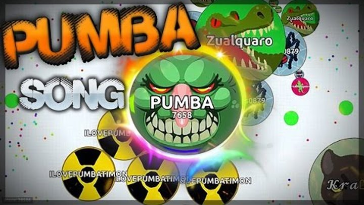 Agar.io BEST MOMENTS WITH TIMON + PUMBA song!
