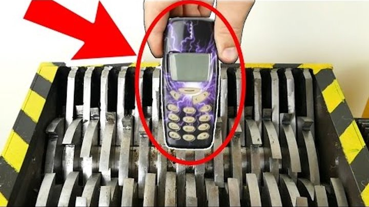 ИЗМЕЛЬЧЕНИЕ ТЕЛЕФОНА NOKIA ЭКСПЕРИМЕНТЫ Shredding NOKIA Phones !! The Shredder Show