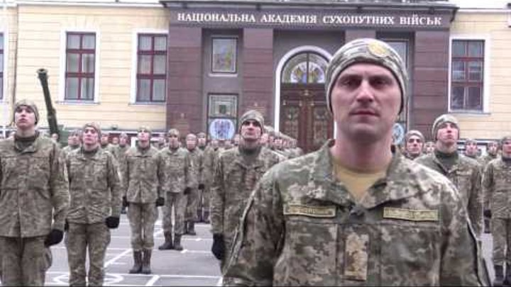 720 cadets of Lviv Army Academy in #22pushupchallenge