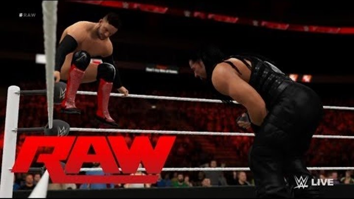 Roman Reigns vs. Finn Bálor: Raw No. 1 contender for WWE Universal Championship: WWE 2K16-Simulation