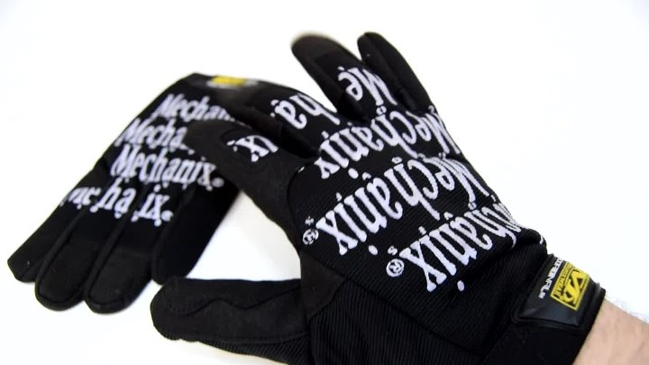 Перчатки Mechanix Original реплика Black/White размер XL
